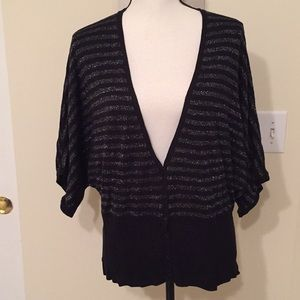Torrid black and silver cardigan, Size 3 or 3X